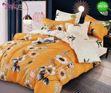 Спално бельо от 100% памук, 6 части и чаршаф с ластик с код X5-20