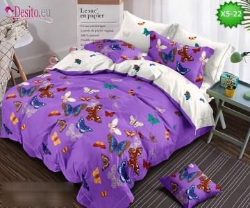 Спално бельо от 100% памук, 6 части и чаршаф с ластик с код X5-22