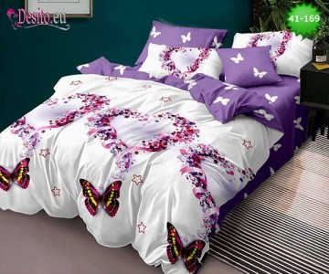 Спално бельо от 100% памук, 6 части - двулицево, с код 41-169