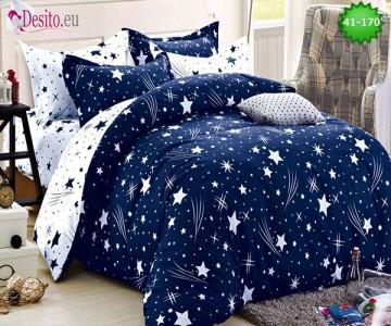 Спално бельо от 100% памук, 6 части - двулицево, с код 41-170