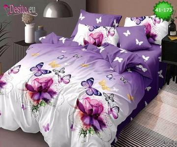 Спално бельо от 100% памук, 6 части - двулицево, с код 41-173