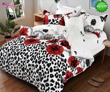 Спално бельо от 100% памук, 6 части - двулицево, с код 41-179