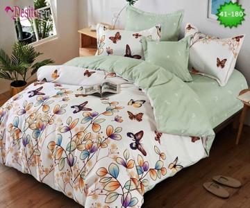 Спално бельо от 100% памук, 6 части - двулицево, с код 41-180