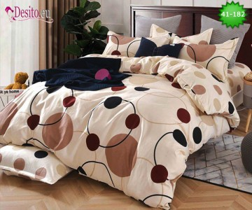Спално бельо от 100% памук, 6 части - двулицево, с код 41-182