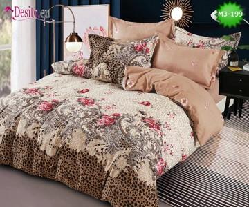 Спално бельо от 100% памук, 6 части, двулицево с код M3-199