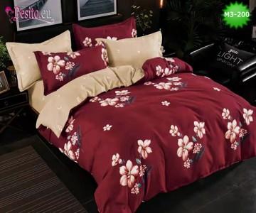 Спално бельо от 100% памук, 6 части, двулицево с код M3-200