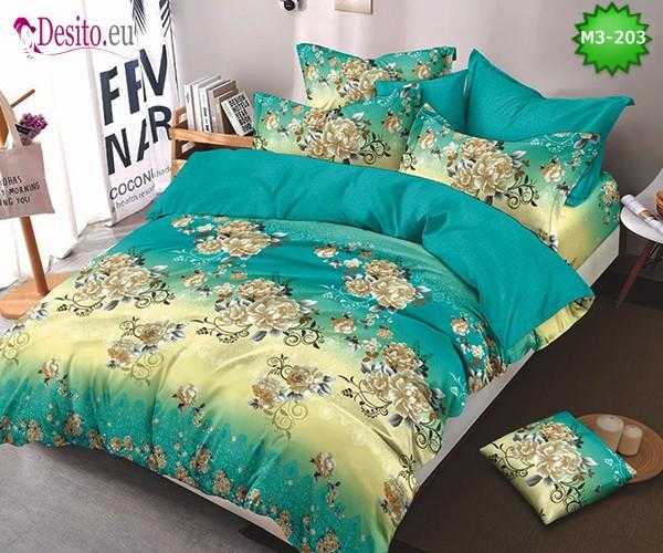 Спално бельо от 100% памук, 6 части, двулицево с код M3-203