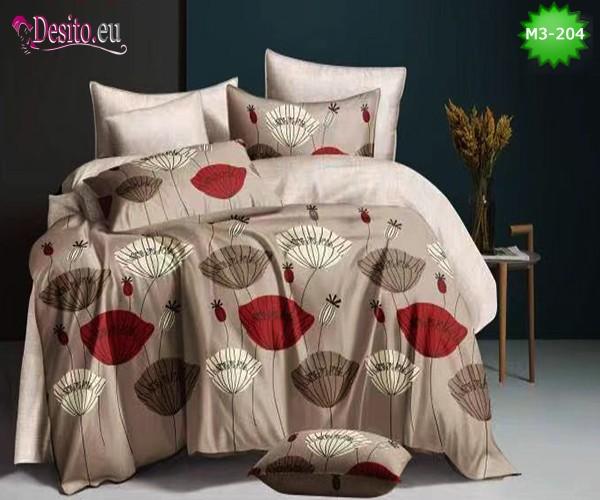 Спално бельо от 100% памук, 6 части, двулицево с код M3-204