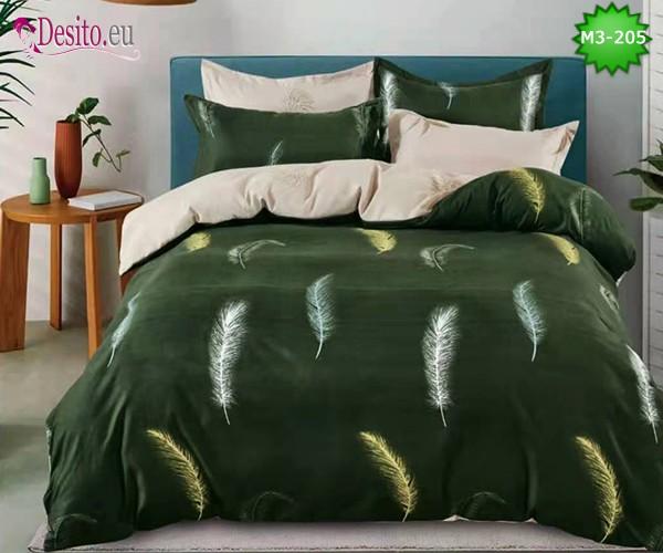 Спално бельо от 100% памук, 6 части, двулицево с код M3-205