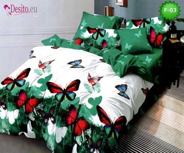 Единично спално бельо 100% памук, 4 части с код F-03