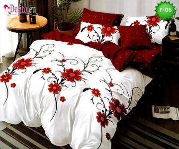 Единично спално бельо 100% памук, 4 части с код F-06