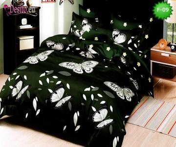 Единично спално бельо 100% памук, 4 части с код F-09