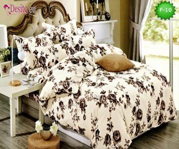 Единично спално бельо 100% памук, 4 части с код F-10