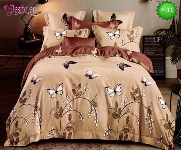 Единично спално бельо 100% памук, 4 части с код F-11