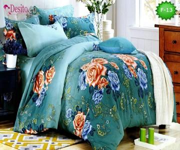 Единично спално бельо 100% памук, 4 части с код F-13