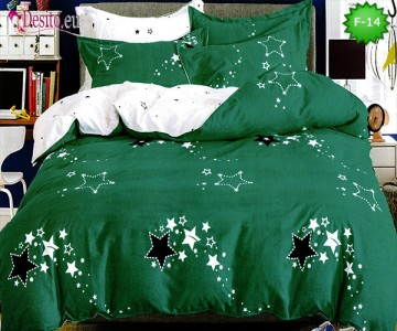 Единично спално бельо 100% памук, 4 части с код F-14