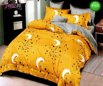 Единично спално бельо 100% памук, 4 части с код F-15