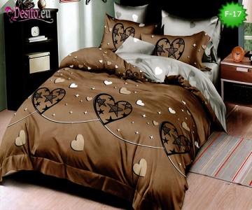 Единично спално бельо 100% памук, 4 части с код F-17