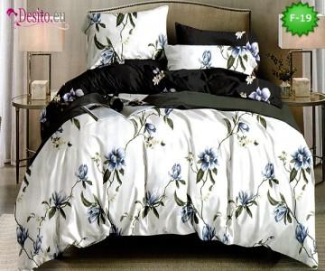 Единично спално бельо 100% памук, 4 части с код F-19