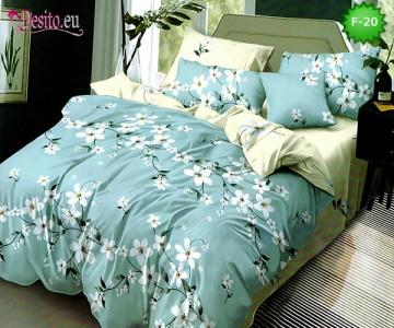 Единично спално бельо 100% памук, 4 части с код F-20