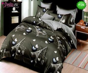 Единично спално бельо 100% памук, 4 части с код F-26