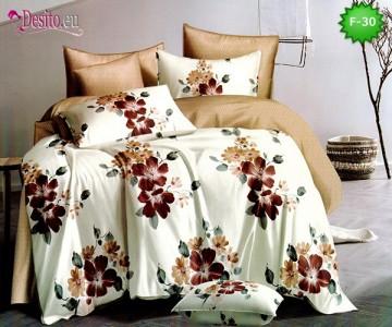 Единично спално бельо 100% памук, 4 части с код F-30