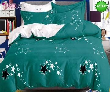 Спално бельо от 100% памук, 6 части - двулицево, с код 46-102