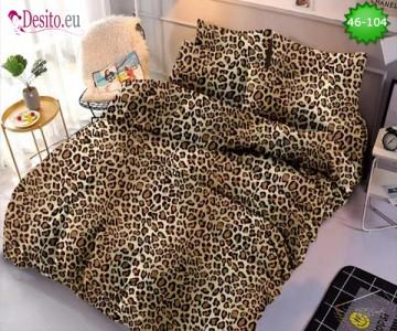 Спално бельо от 100% памук, 6 части - двулицево, с код 46-104