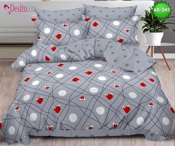 Спално бельо от 100% памук, 6 части, двулицево с код 60-345
