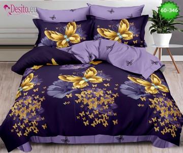 Спално бельо от 100% памук, 6 части, двулицево с код 60-346