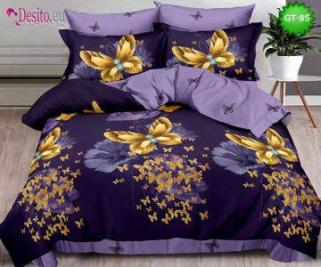 Спално бельо от 100% памук, 6 части и чаршаф с ластик с код GT-85