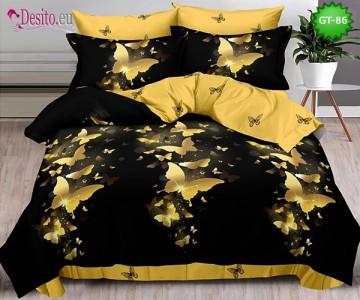 Спално бельо от 100% памук, 6 части и чаршаф с ластик с код GT-86