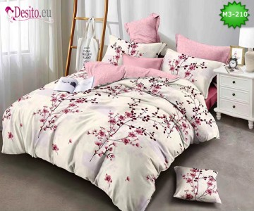 Спално бельо от 100% памук, 6 части, двулицево с код M3-210