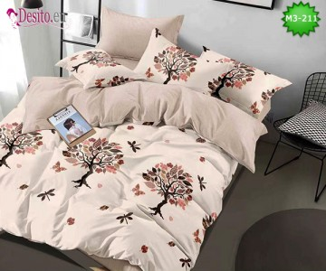 Спално бельо от 100% памук, 6 части, двулицево с код M3-211