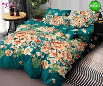 Спално бельо от 100% памук, 6 части, двулицево с код M3-213