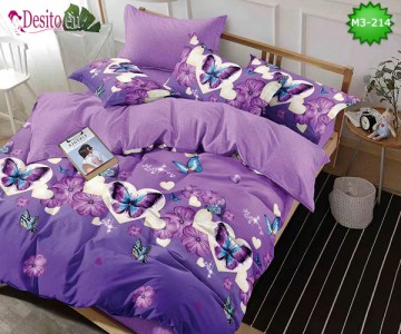 Спално бельо от 100% памук, 6 части, двулицево с код M3-214