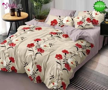 Спално бельо от 100% памук, 6 части, двулицево с код M3-215