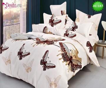 Спално бельо от 100% памук, 6 части - двулицево, с код 41-187