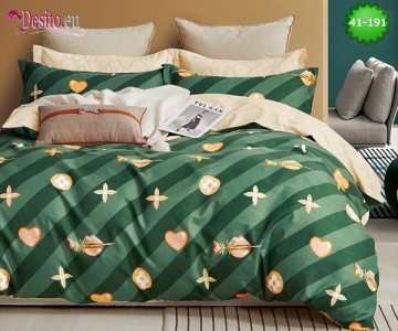 Спално бельо от 100% памук, 6 части - двулицево, с код 41-191