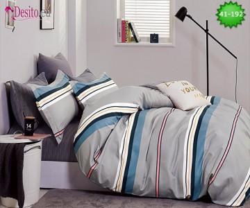 Спално бельо от 100% памук, 6 части - двулицево, с код 41-192