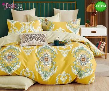 Спално бельо от 100% памук, 6 части - двулицево, с код 41-194