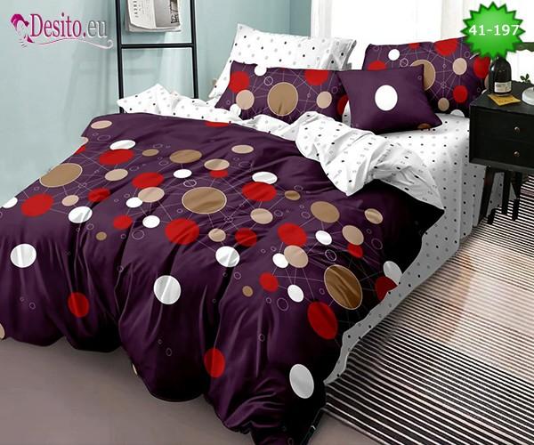 Спално бельо от 100% памук, 6 части - двулицево, с код 41-197
