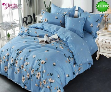 Спално бельо от 100% памук, 6 части - двулицево, с код 41-199