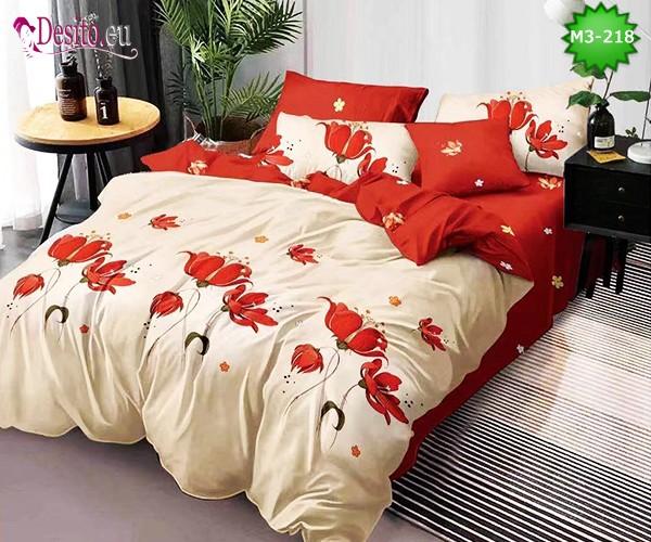 Спално бельо от 100% памук, 6 части, двулицево с код M3-218