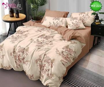 Спално бельо от 100% памук, 6 части, двулицево с код M3-222
