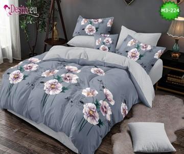Спално бельо от 100% памук, 6 части, двулицево с код M3-224