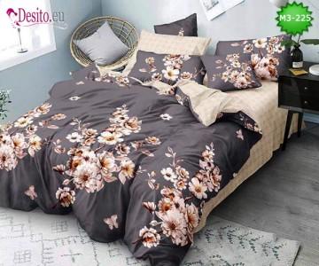 Спално бельо от 100% памук, 6 части, двулицево с код M3-225
