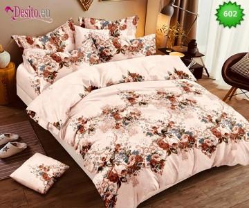 Спално бельо от 100% памук, 6 части, двулицево с код 602
