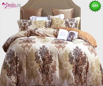 Спално бельо от 100% памук, 6 части, двулицево с код 604