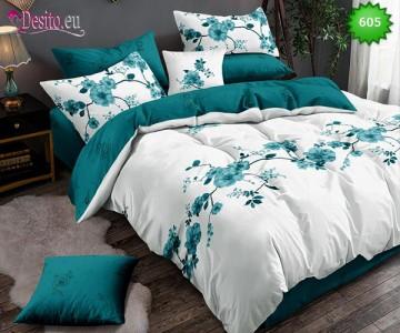 Спално бельо от 100% памук, 6 части, двулицево с код 605